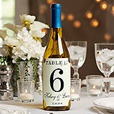 Personalized Wedding Table Number Lablels - 17788