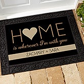 Personalized Romantic Doormats - Home With You - 17792