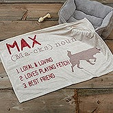 Personalized Dog Blanket - Definition of My Dog - 17796