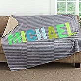 Personalized Sherpa Blanket For Boys - All Mine! - 17804