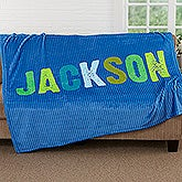 Personalized All Mine Fleece Blanket for Boys - 17805