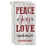 Personalized Peace Joy Love Christmas Postcards - 17831