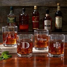 personalized old fashioned glasses classic 17834