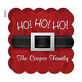 Personalized Santa Christmas Cards - Ho! Ho! Ho! - 17839