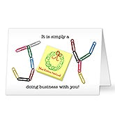 Personalized Business Christmas Cards - Simply A Joy - 17843