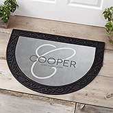 Initial Accent Personalized Half Round Doormat - 17847
