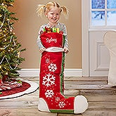 Personalized Oversized Christmas Stockings - Joyful Flurries - 17853