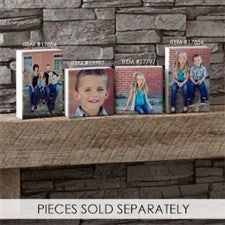 Personalized Photo Rectangle Shelf Blocks - 17854