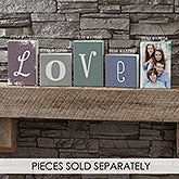 Personalized Letter Decor Rectangle Shelf Blocks - 17855