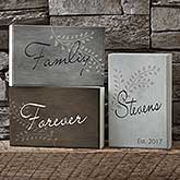 Personalized Elegant Decor Words Family Shelf Blocks Set - 17857