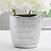Personalized Memorial Aluminum Vase - Memory Becomes A Treasure - 17859