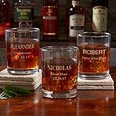 Personalized Groomsmen Whiskey Glass