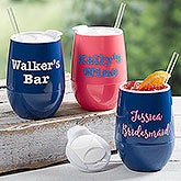 Personalized Stemless Wine Tumblers - 17866
