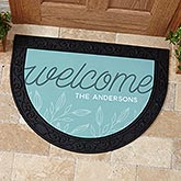 Welcome Personalized Half Round Doormat - 17868