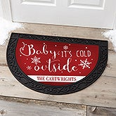 Personalized Half Round Doormat - Christmas Quotes - 17872