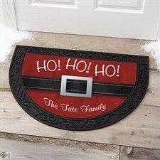 Personalized Holiday Half Round Doormat - Santa - 17873