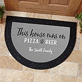 This House Runs On...Personalized Half Round Doormat - 17875