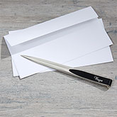 Personalized Black & Silver Letter Opener - Signature Series - 17877