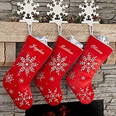 Personalized Velvet Christmas Stockings - Season's Sparkle - 17893
