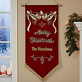 Personalized Merry Christmas Banner - 17897