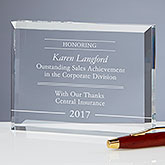Personalized Achievement Award - Performance Award - 17901