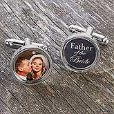 Custom Photo Cufflinks For Wedding Party - 17905D