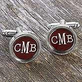 Custom Monogram Cufflinks - 17907D