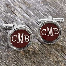 Custom Monogram Cufflinks - 17907D