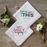 No Ugly Crying Handkerchief - Personalized Handkerchief - 17915