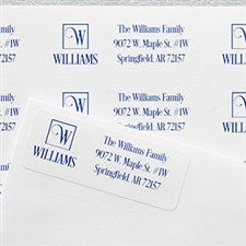 Square Monogram | Personalized Return Address Labels - 17921