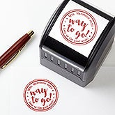 Personalized Teacher Stamps With Words of Encouragement - 17925
