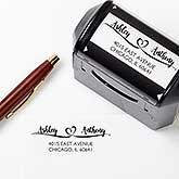Personalized Address Stamp - Loving Pair - 17926