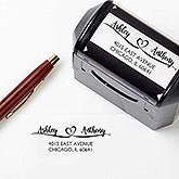 Personalized Address Stamp - Loving Pair - 17926