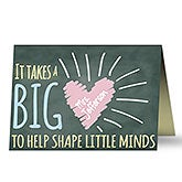 Personalized Teacher Appreciation Card - A Teacher's Heart - 17930