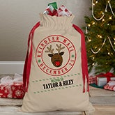 Personalized Santa Sack - Reindeer Mail - 17935