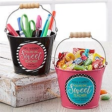 Personalized Teacher Gifts - Mini Metal Bucket - 17942