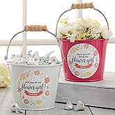Personalized Mini Buckets - Will You Be My Flower Girl - 17944