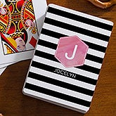 Personalized Womens Playing Cards - Modern Stripe - 17950