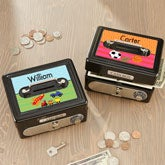 Personalized Kids Cash Box - For Boys - 17953