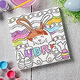 Personalized Coloring Canvas Print - Easter Bunny - 17955