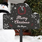 Personalized Yard Stake & Garden Sign - Holiday Wishes - 17962