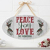Personalized Wood Sign - Peace, Love, Joy - 17967