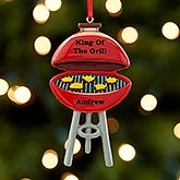 King Of The Grill Personalized Christmas Ornament  - 17981