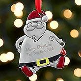 Personalized Metal Ornaments - Santa - 17986