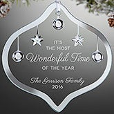 Personalized Glass Ornament - Wonderful Time Of The Year - 17990