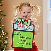 Personalized Christmas Wish List - Photo Prop Dry Erase Sign - 18000