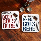 Personalized Beer Bottle Opener Coasters - 18003