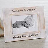 Personalized Whitewashed Rustic Picture Frame - 18025