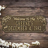 Personalized House Plaque – Home Established - 18026D