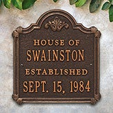 Personalized Anniversary House Plaque - 18027D